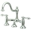 <strong>Restoration Double Handle Widespread Bathroom Sink Faucet with Bras...</strong> by Kingston Brass