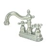 <strong>Kingston Brass</strong> Heritage Double Handle Centerset Bathroom Faucet with Brass Pop-Up Drain