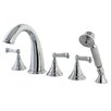 <strong>Kingston Brass</strong> Roman Three Handle Roman Tub Filler with Hand Shower