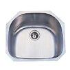 """Kingston Brass Manhattan 23.19"""" x 21.06"""" Gourmetier Stainless Steel Single Bowl Undermount Kitchen Sink"""