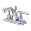 <strong>Milano Double Handle Centerset Bathroom Sink Faucet with Brass Pop-up</strong> by Kingston Brass