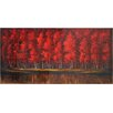 Ren-Wil The Ruby Forest by Dominic Lecavalier Painting Print on Canvas