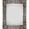 Beveled Rectangular Mirror in Soldered Satin Nickel