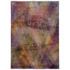 Pantone Universe Prismatic Abstract Purple & Gold Area Rug