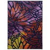 Pantone Universe Prismatic Purple/Orange Abstract Area Rug
