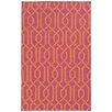 Pantone Universe Matrix Geometric Red Area Rug I