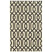 Pantone Universe Matrix Geometric Cream & Black Area Rug