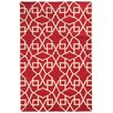 Pantone Universe Matrix Red Geometric Area Rug