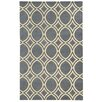 Pantone Universe Optic Charcoal/Ivory Geometric Area Rug