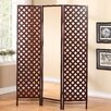 "Stonegate Designs Furniture 70"" x 51.5"" Paris Boutique Mirrored Dressing 3 Panel Room Divider"