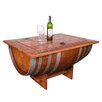 Napa East Collection Wine Barrel Coffee Table