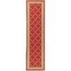 <strong>Ottohome Dark Red Floral Trellis Rug</strong> by Ottomanson