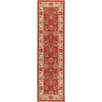 <strong>Ottohome Dark Red Floral Rug</strong> by Ottomanson