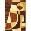 Ottomanson Moderno Dark Brown Abstract Rug