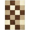 <strong>Ultimate Shaggy Brown Checkered Rug</strong> by Ottomanson