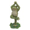 <strong>Design Toscano</strong> Boogie Down Dancing Frog with Hands Up Statue