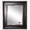 <strong>Rayne Mirrors</strong> Black With Silver Cage Wall Mirror
