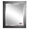 <strong>Rayne Mirrors</strong> Jovie Jane Black Satin Wide Wall Mirror