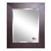 Rayne Mirrors Jovie JaneWide Brown Leather Wall Mirror