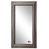 Rayne Mirrors Smoked Silver and Black Tall Mirror