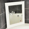 <strong>Jovie Jane White Satin Wide Wall Mirror</strong> by Rayne Mirrors