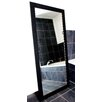 Rayne Mirrors Satin Black Wide Tall Mirror
