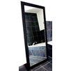 Rayne Mirrors Satin Black Wide Tall Mirror