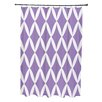 E By Design Geometric Shower Curtain I