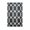 E By Design Decorative Geometric Black/White Area Rug
