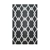 E By Design Decorative Striped Black/White Area Rug