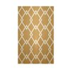 E By Design Decorative Geometric Gold/White Area Rug