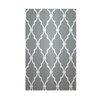 E By Design Decorative Geometric Grey/Light Grey Area Rug