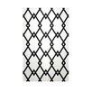 E By Design Decorative Geometric White/Black Area Rug