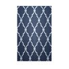 E By Design Decorative Geometric Navy Blue/Light Blue Area Rug