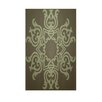 E By Design Decorative Geometric Sage/Light Green Area Rug