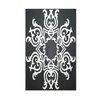 E By Design Decrative Geometric Black/White Area Rug