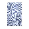 E By Design Decorative Geometric Dazzling Blue/White Area Rug