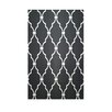 E By Design Decorative Geometric Black/White Area Rug