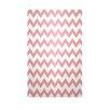 E By Design Decorative Chevron Pink/White Area Rug