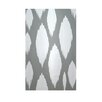 E By Design Decorative Geometric Grey/White Area Rug