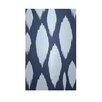 E By Design Decorative Ikat Navy Blue/Light Blue Area Rug