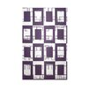 E By Design Decorative Geometric Grape Royale/White Area Rug