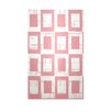 E By Design Deorative Geometric Pink/White Area Rug