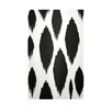 E By Design Decorative Ikat White/Black Area Rug