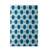 E By Design Decorative Geometric Teal/Coral Area Rug