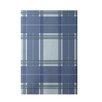 E By Design Decorative Geometric Light Blue/Blue Area Rug