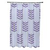 E By Design Flower Power Shower Curtain