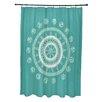 E By Design Coastal Calm Geometric Shower Curtain