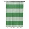 E By Design Coastal Calm Stripes Shower Curtain