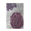 E By Design Decorative Floral Purple Area Rug